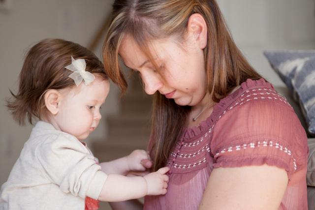 Amanda Buck and her daughter.