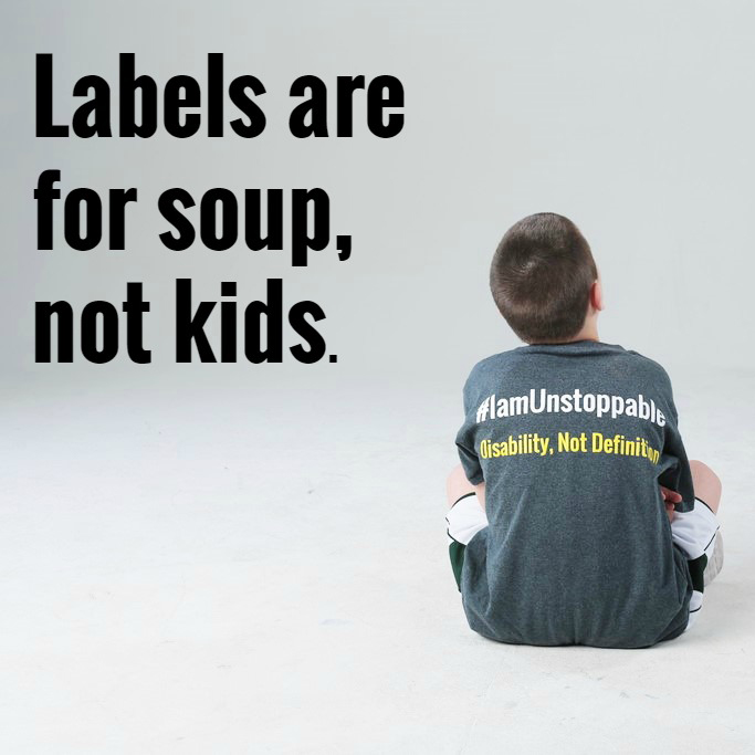 Labels are for soup, not kids.