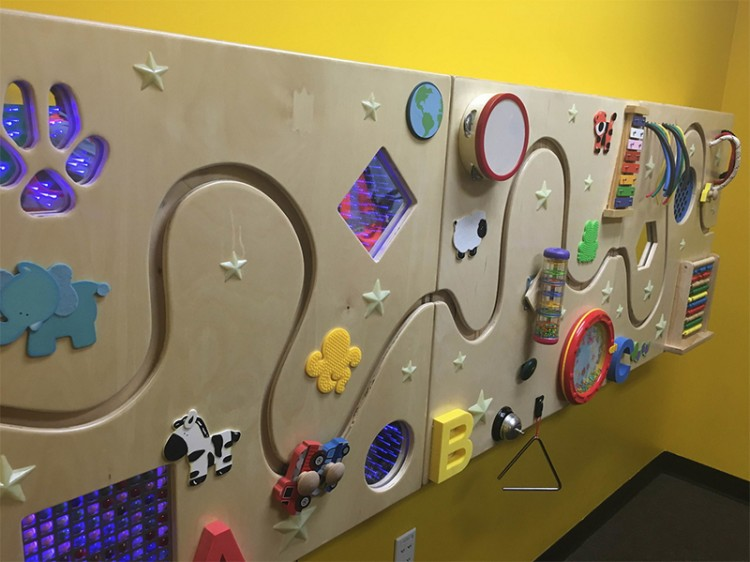 A sensory panel for children on the autism spectrum at Legoland Florida's theme park. This is just one of the many improvements they're making to the park as part of their partnership with Autism Speaks.