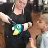 Braeden Tarzwell getting his hair cut at Supercuts