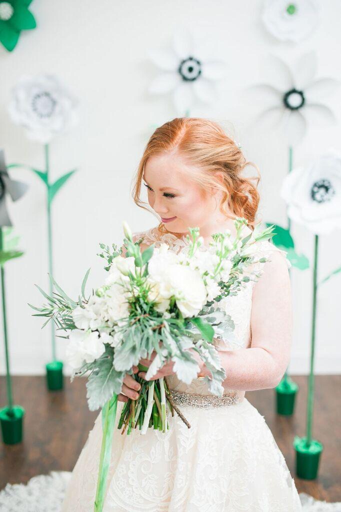 madeline stuart holding bouquet