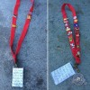 A photo of the red lanyard found at Disneyland on March 24. Disneyland employee Emily Gibby is trying to find the owner, who apparently has autism.