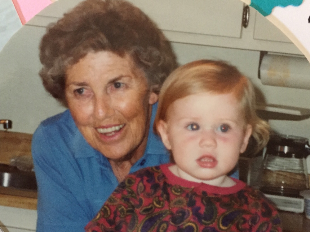 nana with megan as a baby