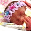 a newborn preemie girl in the NICU