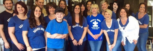 A hair salon honored Kimberly Ketcham's son, Adam, and individuals like him by raising money to support autism research.