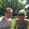 daniel and mom at a picnic in the park
