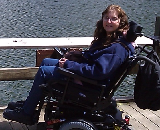 susan in power wheelchair