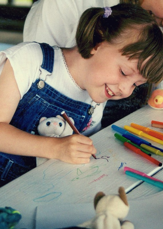 author coloring as a child