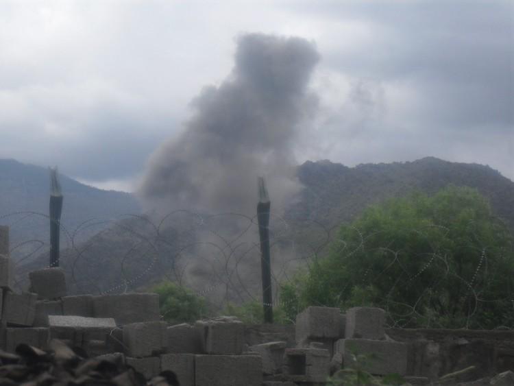 smoke filling the sky in Afghanistan