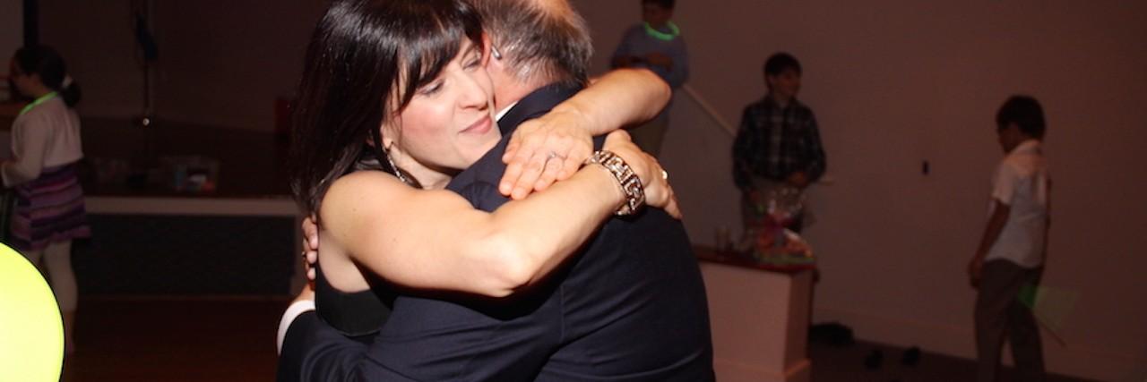 deborah dancing with her father