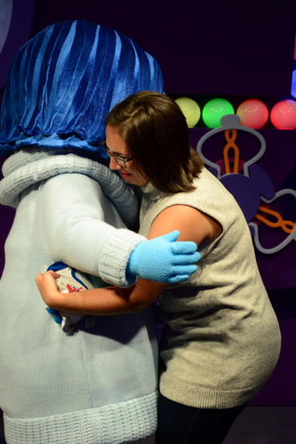"Natalie meeting Sadness from ""Inside Out"""