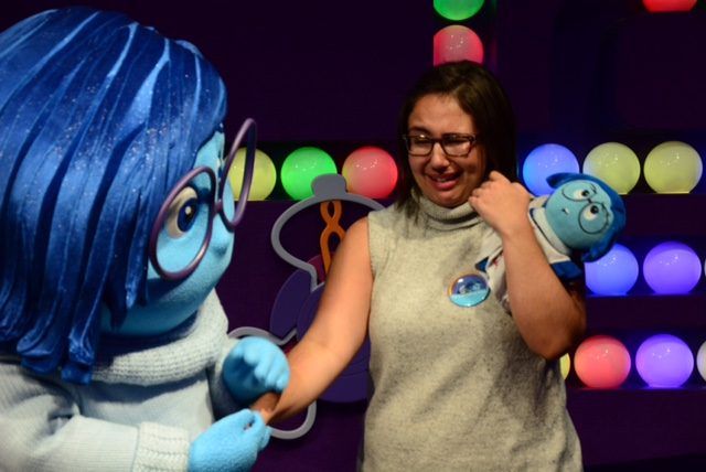 Natalie meets Sadness from Inside Out