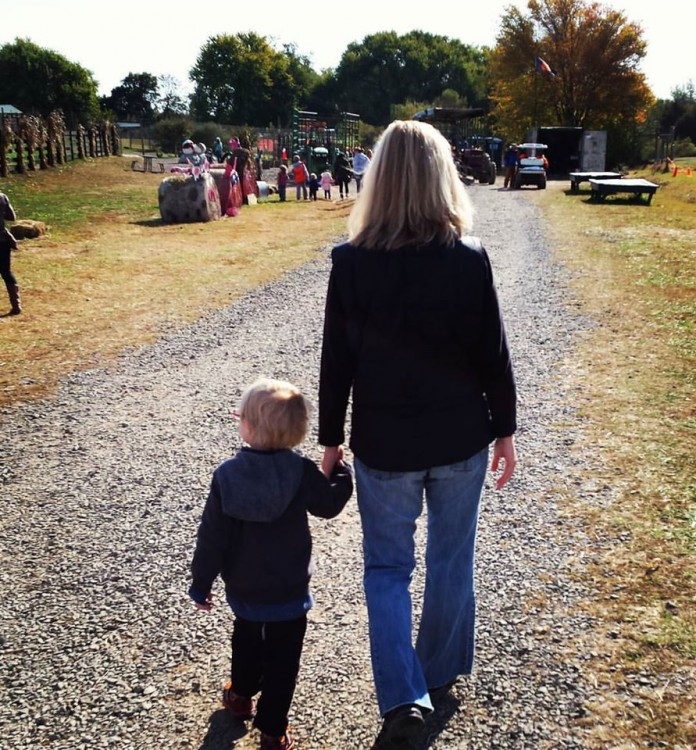Kathy and her son
