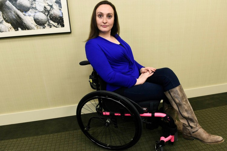 Svetlana Kleyman, a SUNY medical student who was barred from returning to training after being paralyzed.