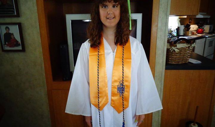 Molly's college graduation day! Determination conquers all.
