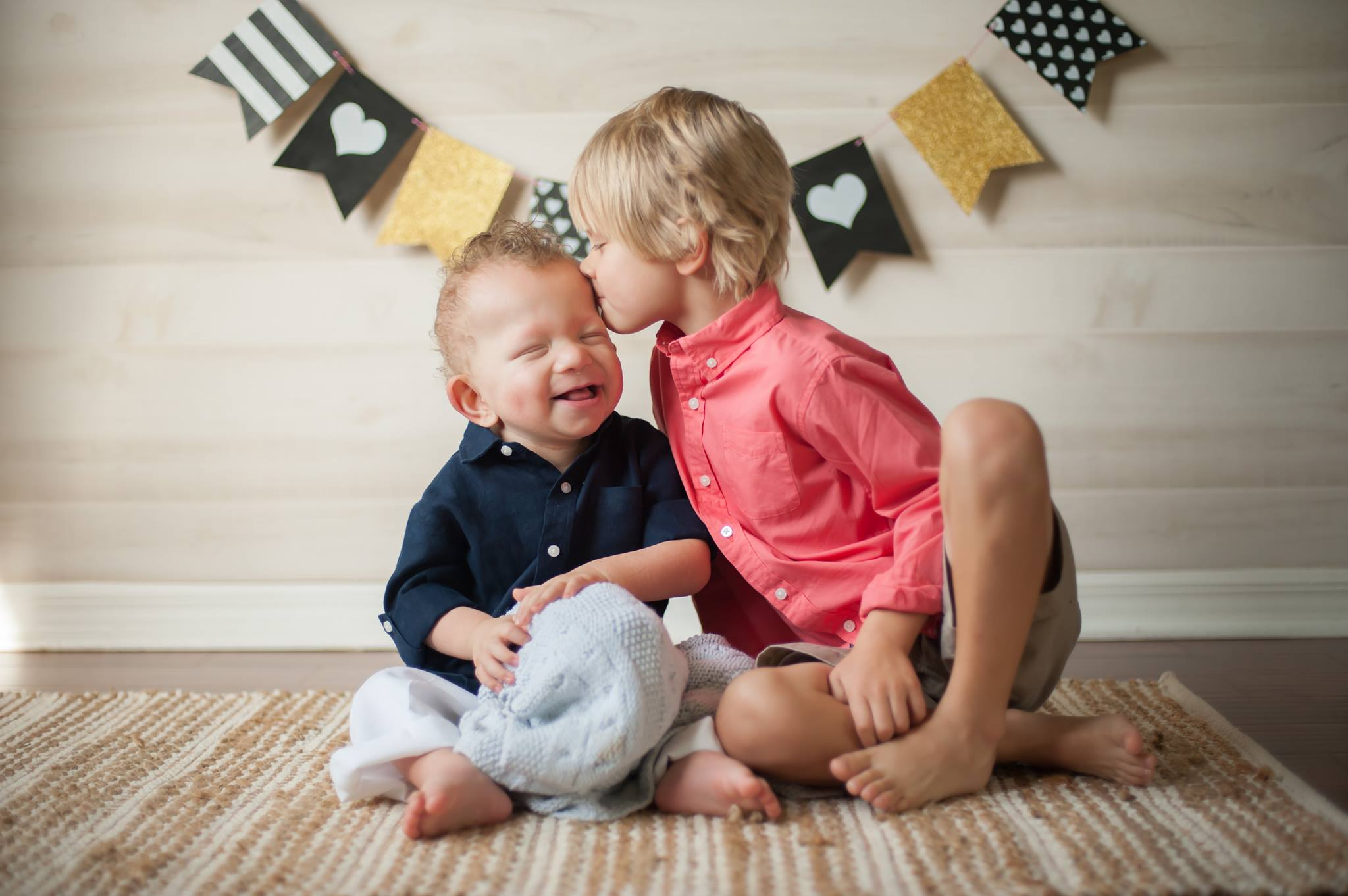 brothers kissing