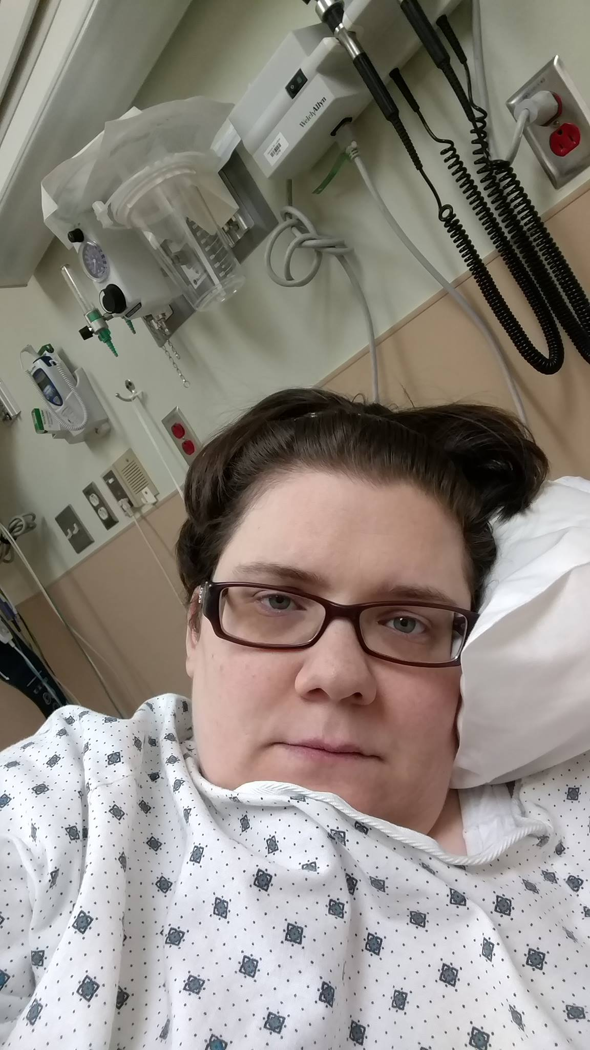 author in hospital bed
