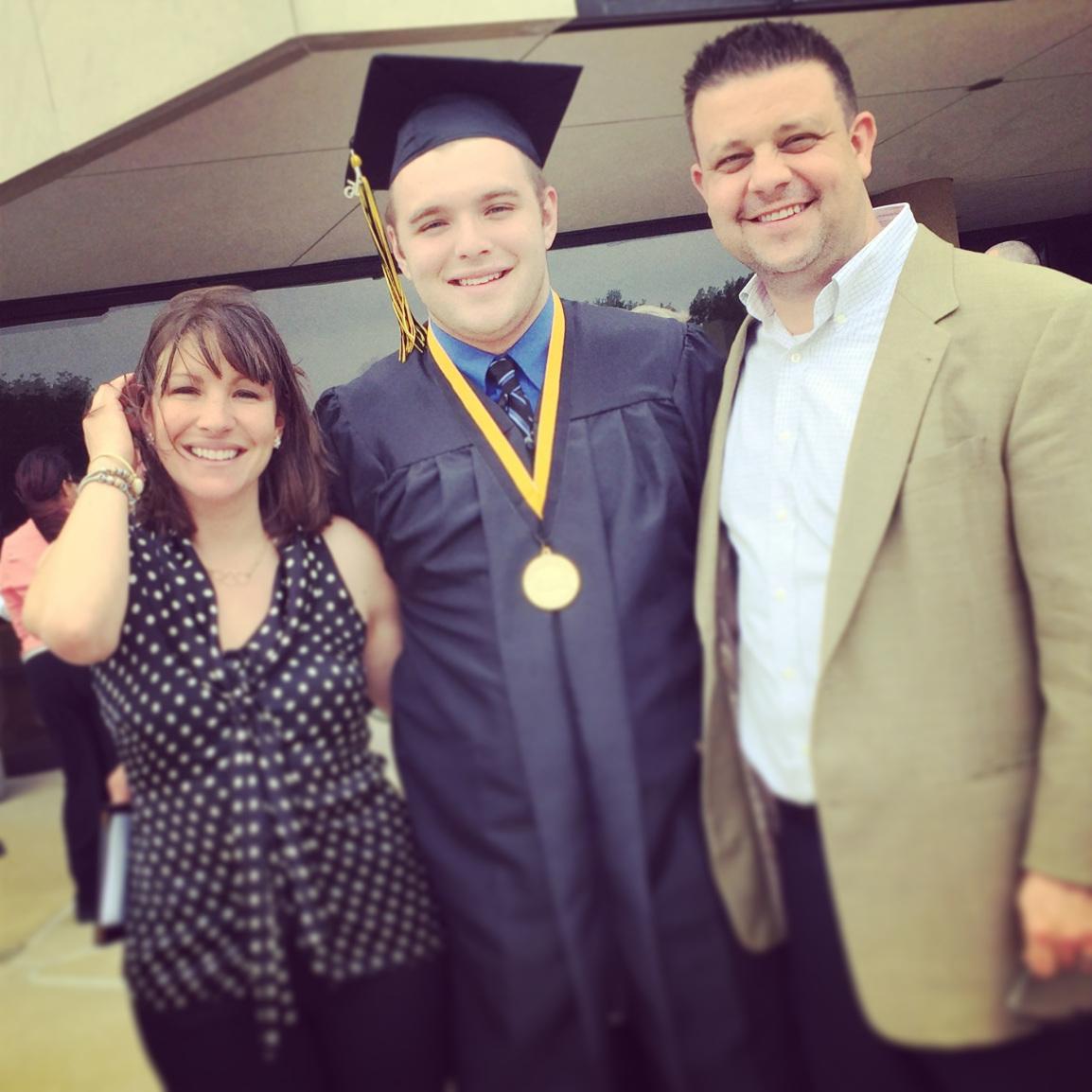 family at graduation