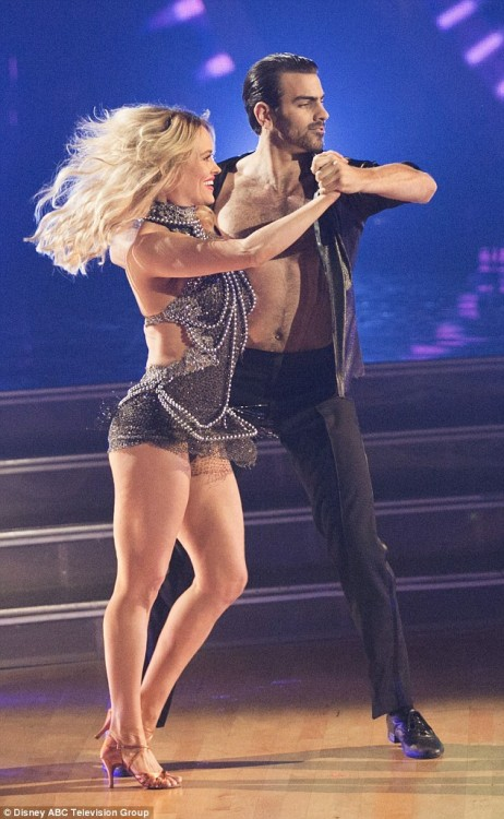 "Nyle DiMarco and Peta Murgatroyd perform on ""Dancing with the Stars."""