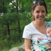 Caitlin Fitzpatrick Curley with her son.
