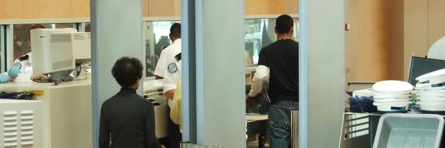 airport security screening area