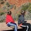 three boys at grand canyon