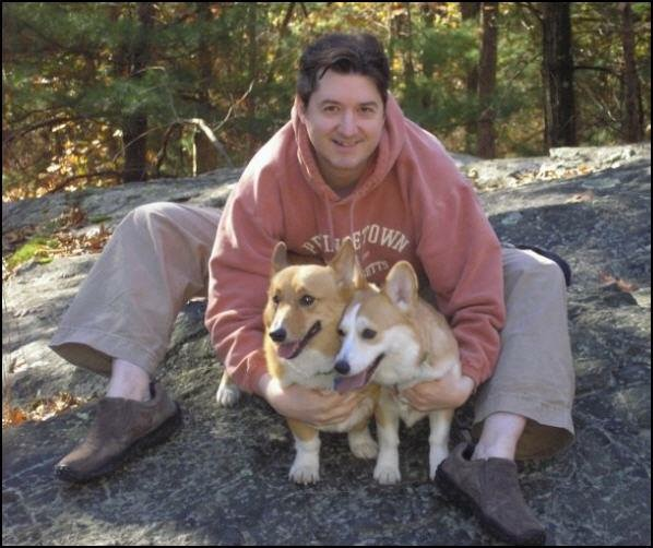 Gary and his two Welsh Corgis.