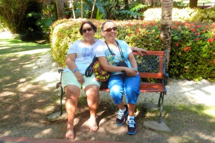 Juana Ortiz, left, with her mother