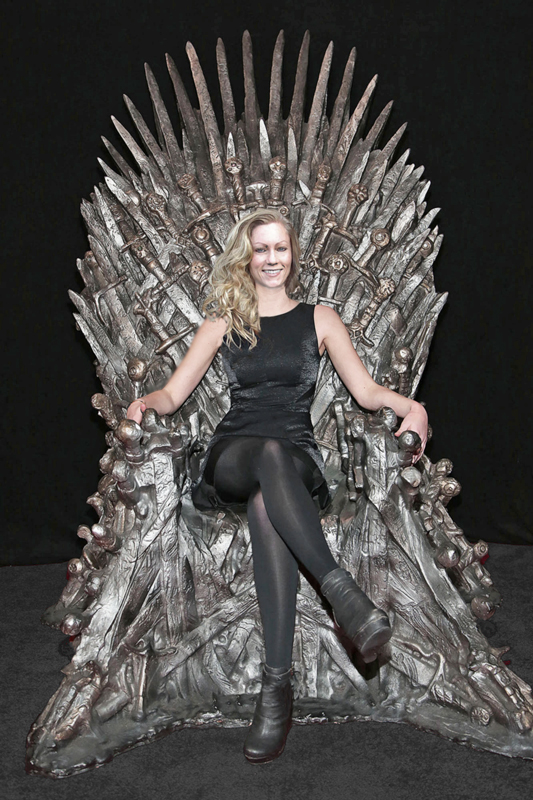 kathy on the iron throne
