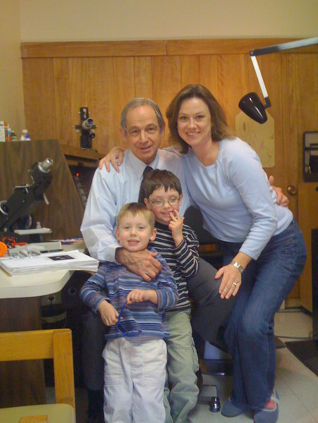 Laura Richards with her sons and Dr. Walton
