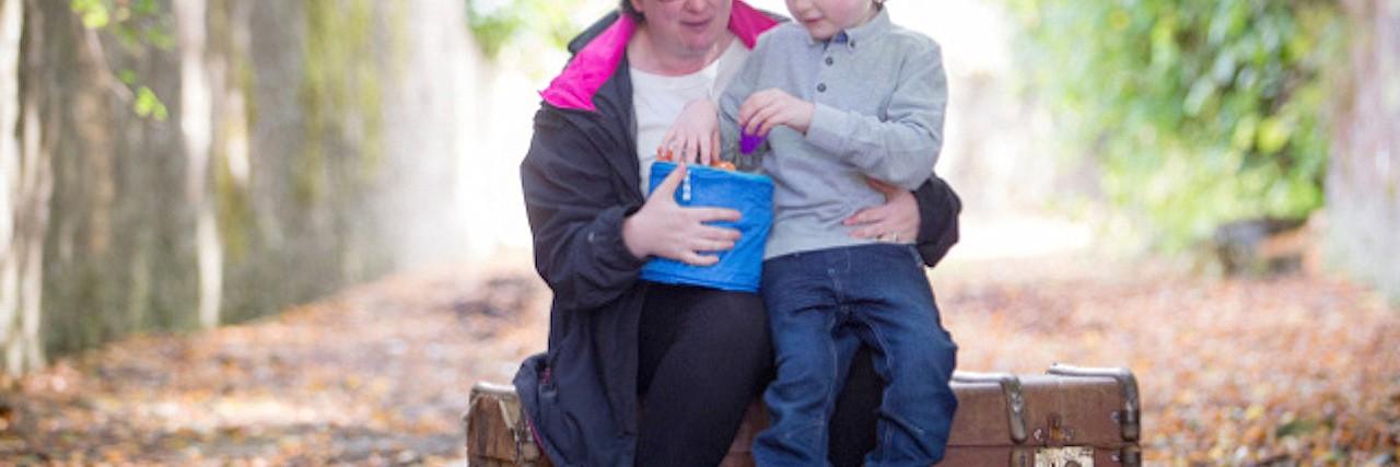 Miriam Gwynne with her son