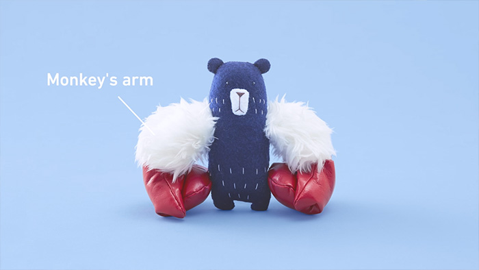 Bear with monkey arms