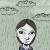Girl with Clouds and Rain