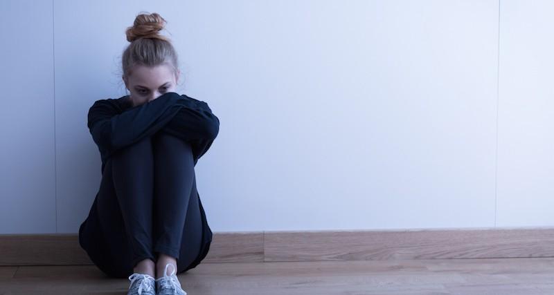 Sad woman with depression