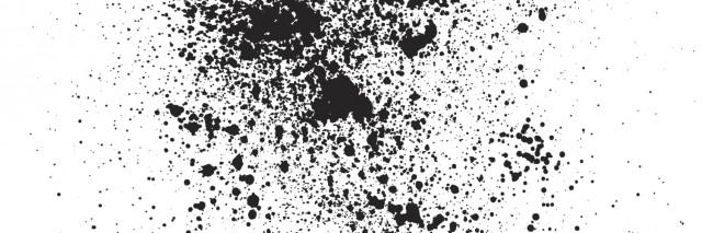 Vectorized black drops.