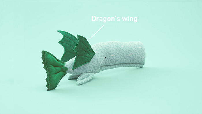 Whale with dragon wings