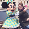 Chloe taking a selfie with Minnie Mouse.