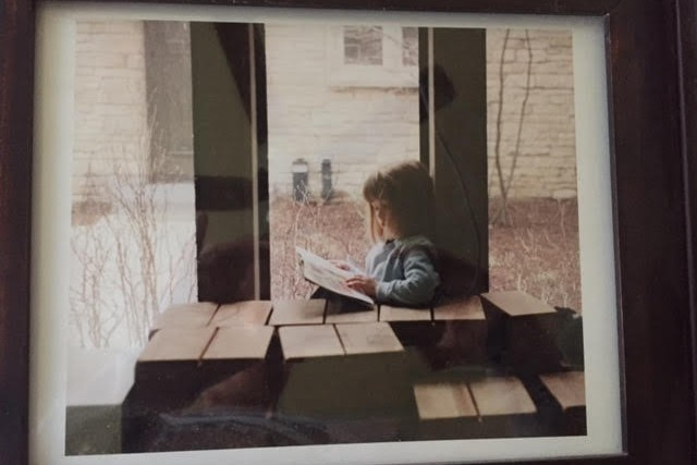 daughter reading as a child