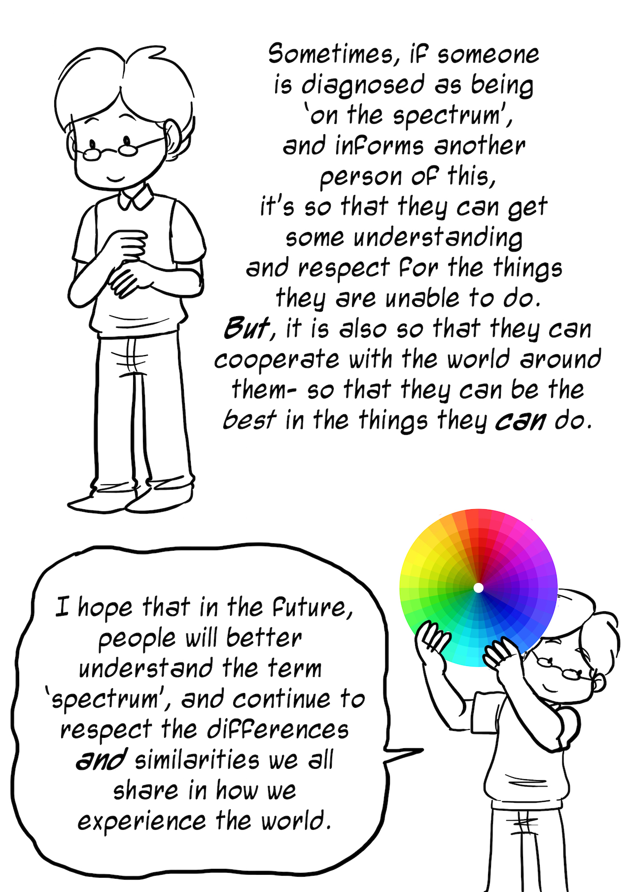 autism spectrum explained as a color wheel