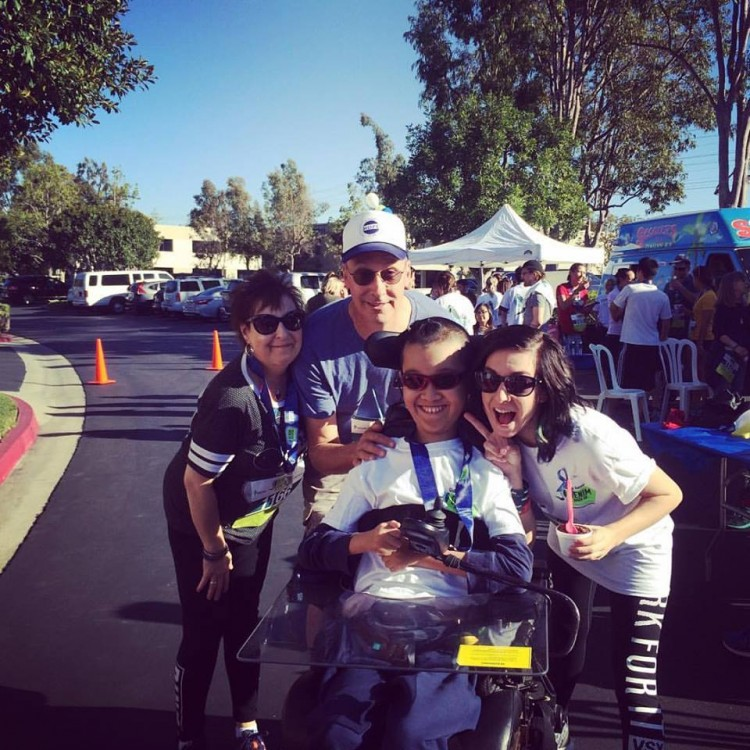 Christina's Mother, Christina's Father, Ben, Christina at the Global Genes 2nd Annual Denim Dash - image provided by Ben Lou