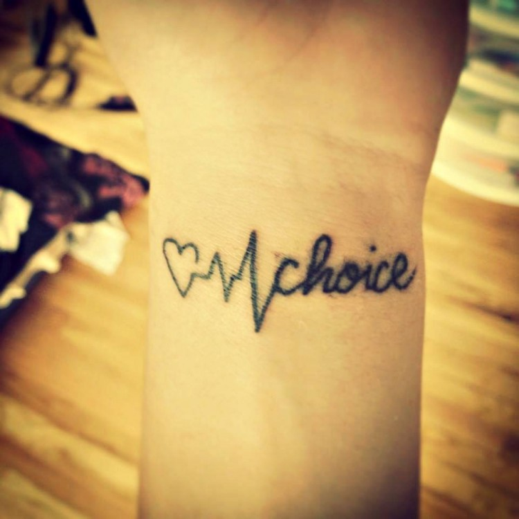 Tattoo reads: Choice