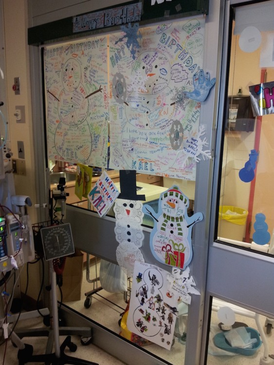 birthday decorations in the hospital