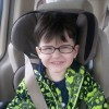 author's son in car