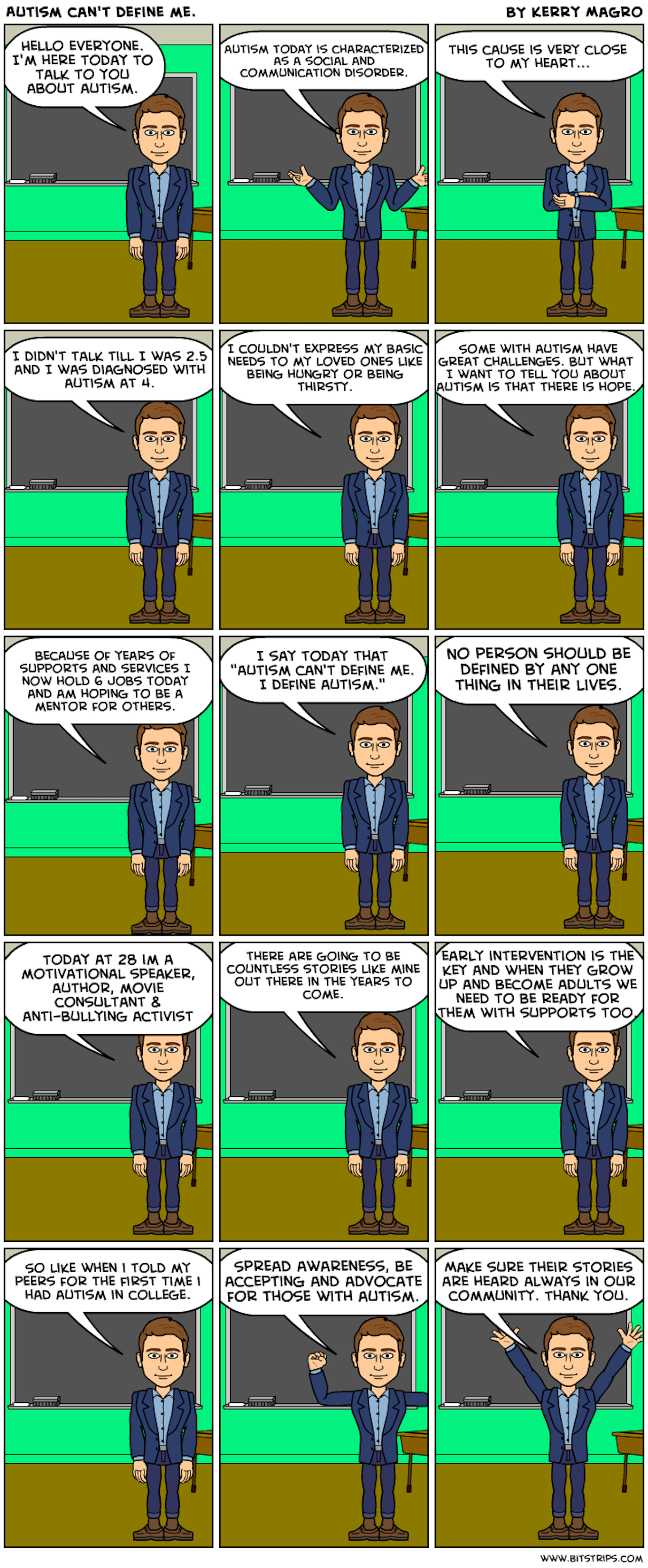 autism comic strip explaining that autism is another way of thinking