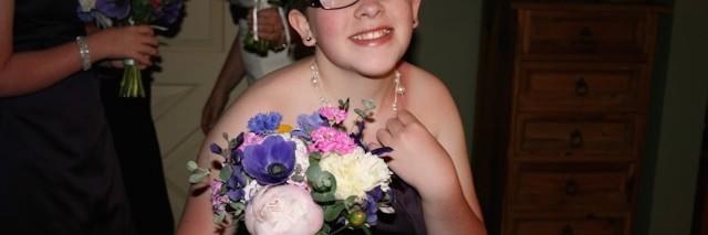 Pamela's daughter at a wedding