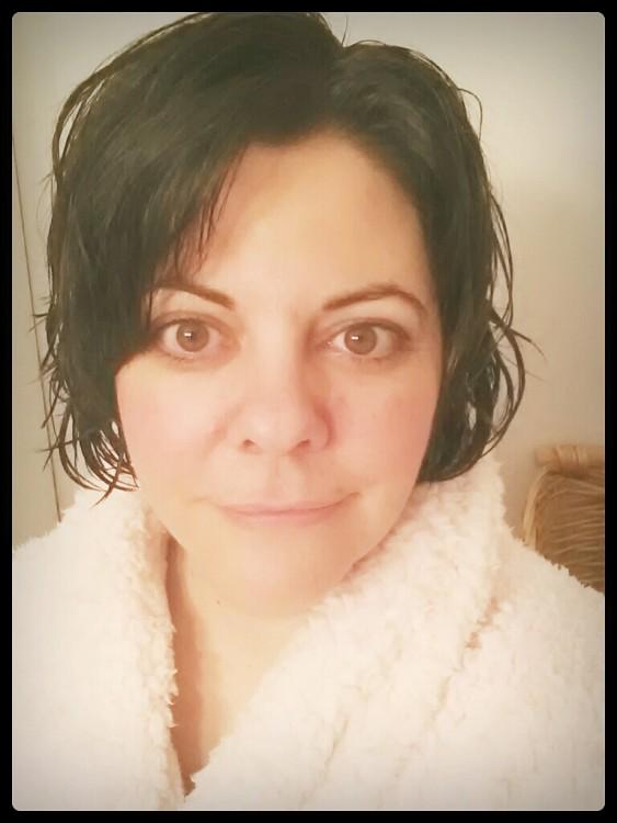 Christy Bloemendaal after shower