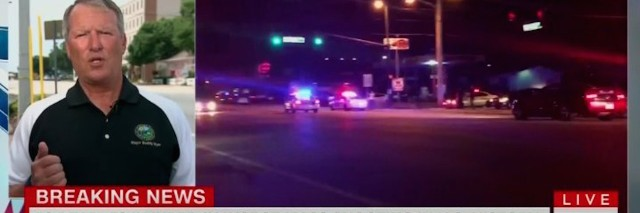 Screenshot of CNN during the Orlando shooting