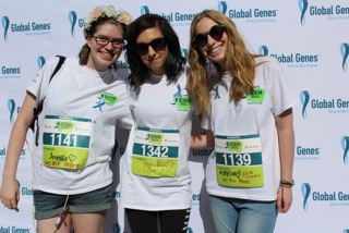 Savannah, christina, and shira at the global genes demin dash
