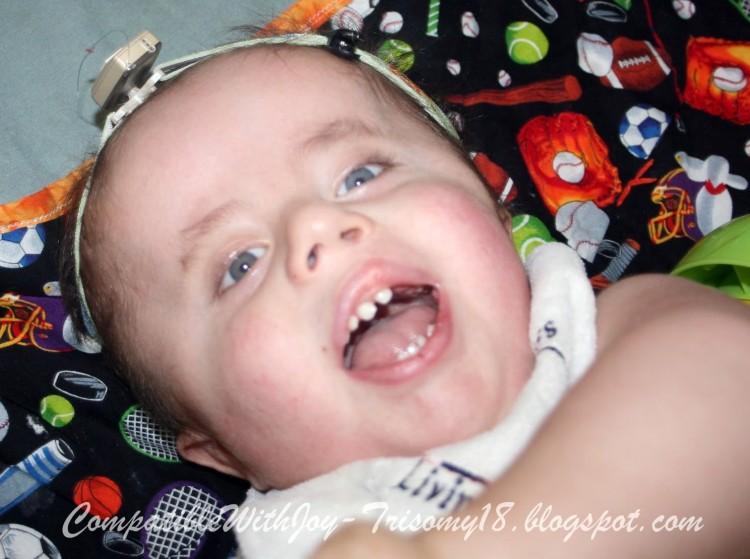 rebekah's son smiling