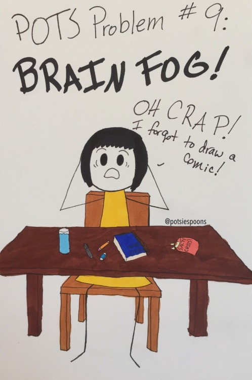 Comic illustrating brain fog
